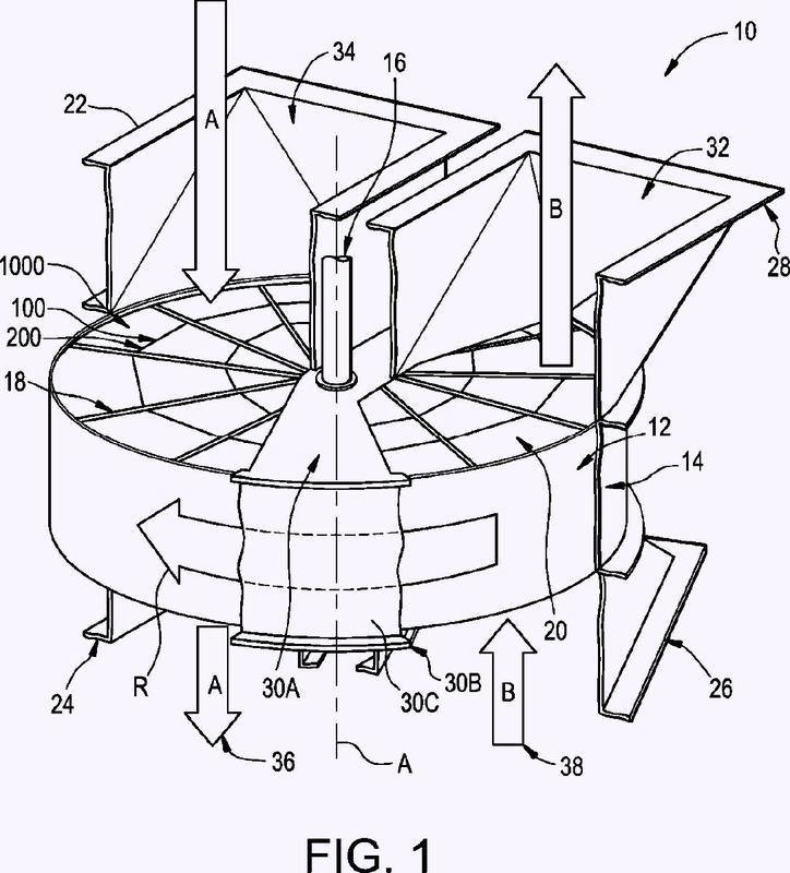 Configuración alternada de muescas para separar láminas de transferencia de calor.