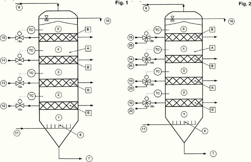 Reactor de extracción así como procedimiento para la extracción de material granular.