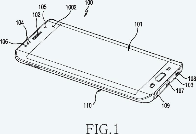 Dispositivo electrónico que incluye una estructura de separación de componentes.