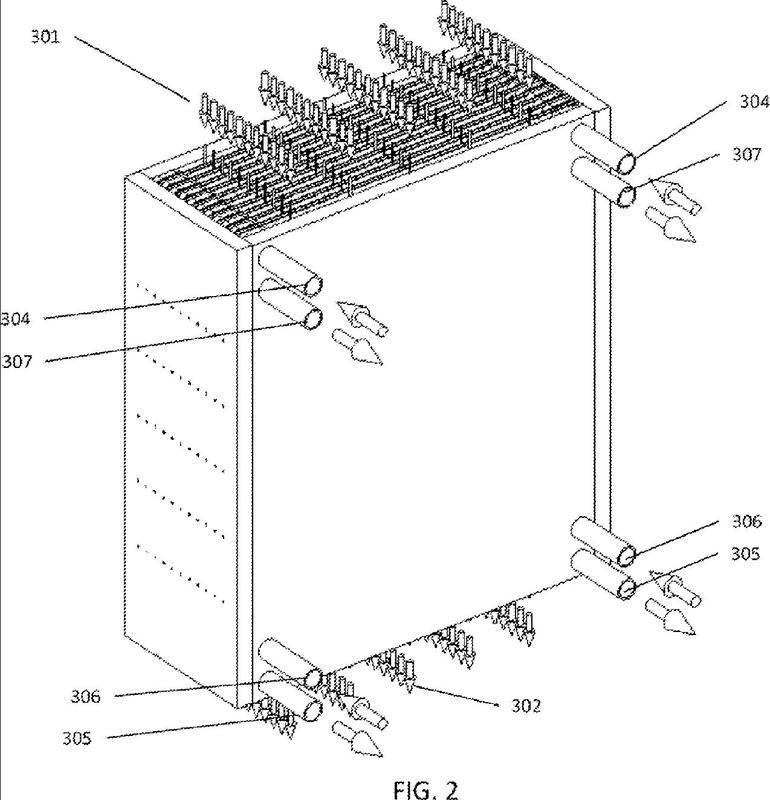 Sistema de aire acondicionado con desecante líquido dividido.