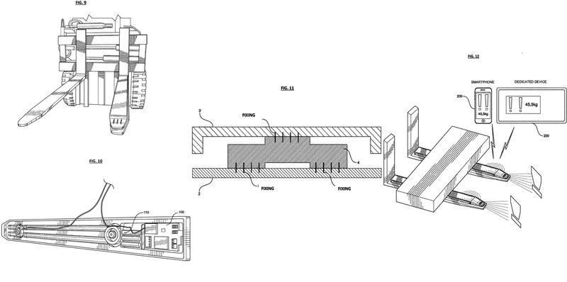 Dispositivo de pesado aplicable de forma magnética a la horquilla de una carretilla elevadora con conexión de datos inalámbrica.