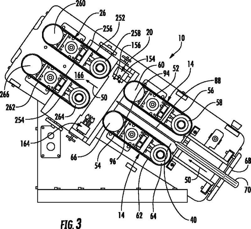 Máquina y método para fabricar productos de amortiguación inflados.