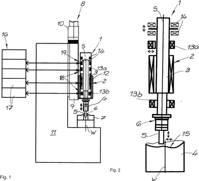 Accionamiento de herramienta con árbol de husillo y procedimiento operativo.