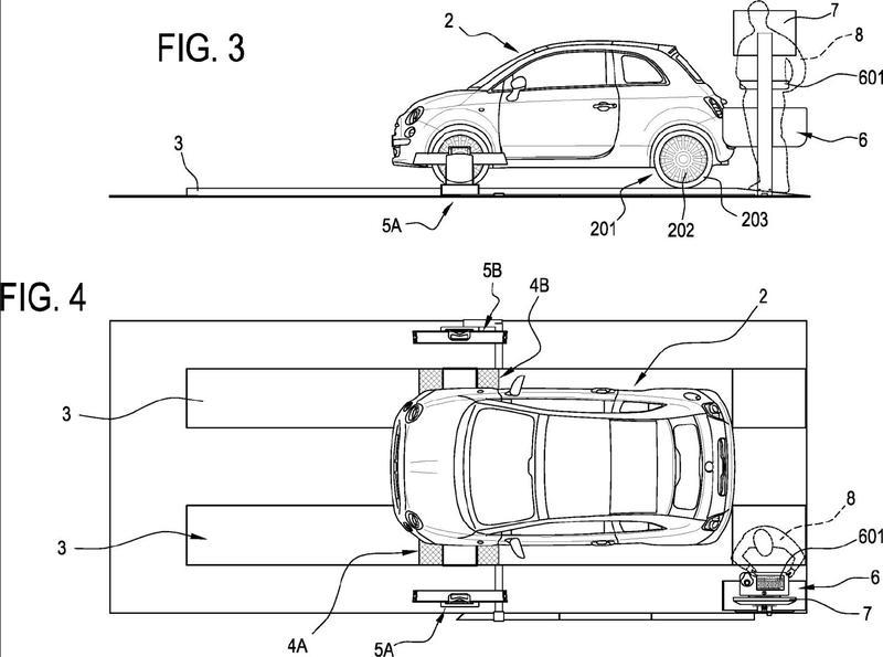 Método y aparato para comprobar neumáticos de rueda de vehículo.