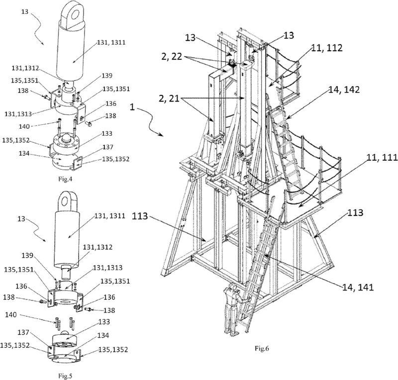 Sistema y método de control de prueba de carga de unidad de elevación de máquina de soporte de vehículos.