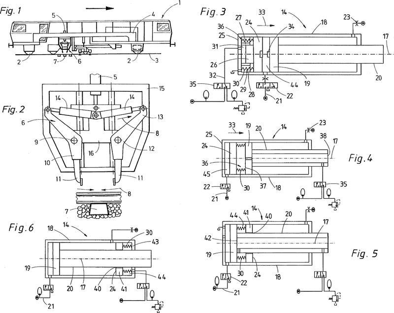 Disposición de pistón de vibración en cilindro de aproximación de una piqueta de bateado.