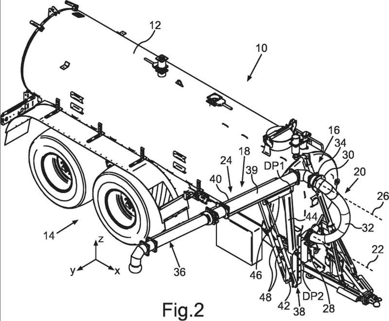 Vehículo cisterna con un dispositivo de transporte.