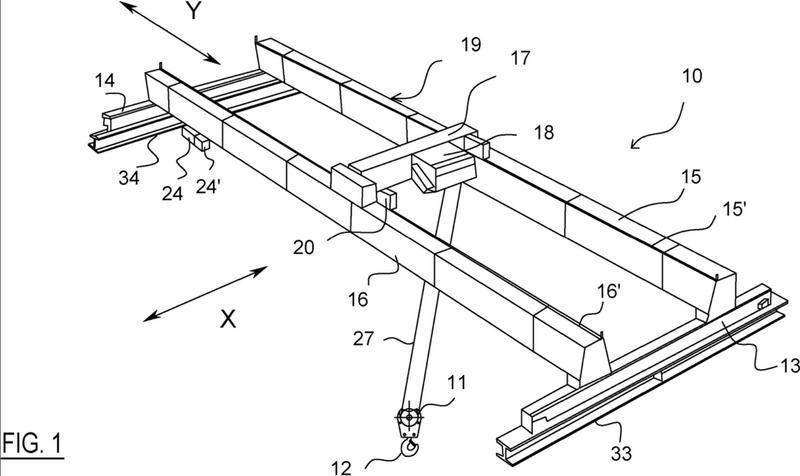 Dispositivo y procedimiento para controlar una oscilación de una carga suspendida en un aparato de elevación.