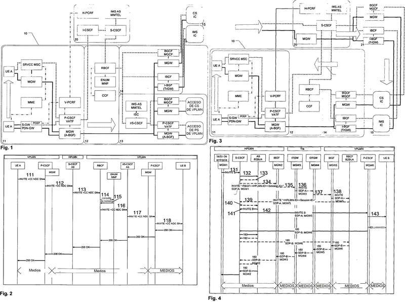 Métodos y aparatos para usar una infraestructura de VPLMN por una HPLMN para terminar un establecimiento de sesión de IMS para un usuario de itinerancia.