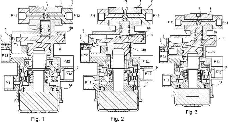 Equipo de válvula neumática accionable hidráulicamente.