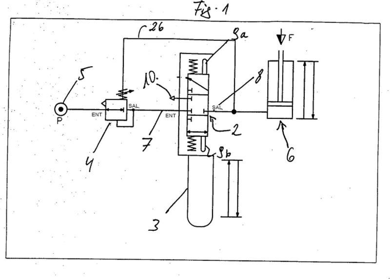 Dispositivo de control neumático para un aparato elevador de aire comprimido.