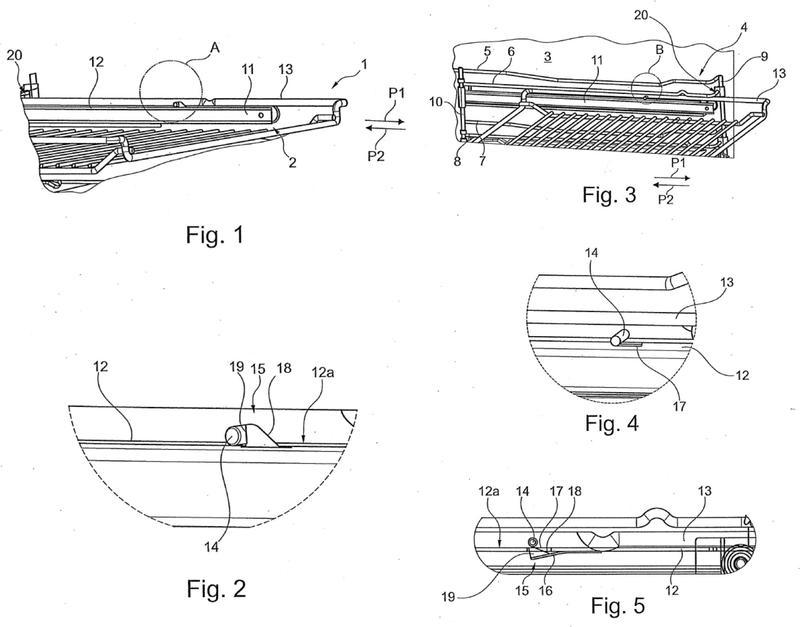 Dispositivo para guiar el movimiento de un elemento de empuje y equipo doméstico.