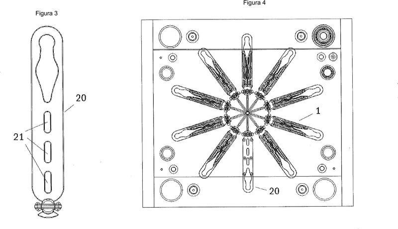 Soporte modular para tejidos textiles.