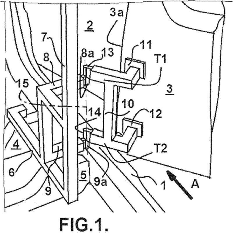 Dispositivo de articulación temporal de una puerta de vehículo.