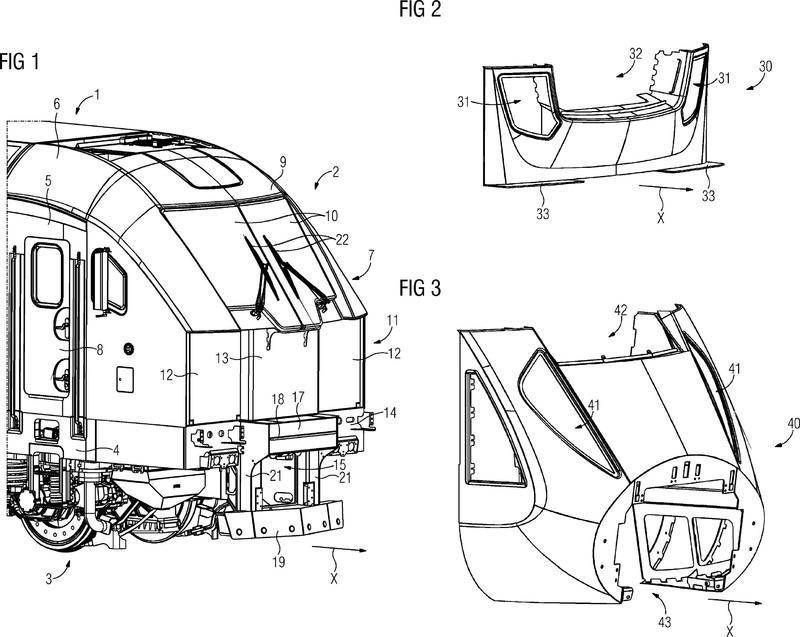 Vehículo ferroviario, en particular locomotora.