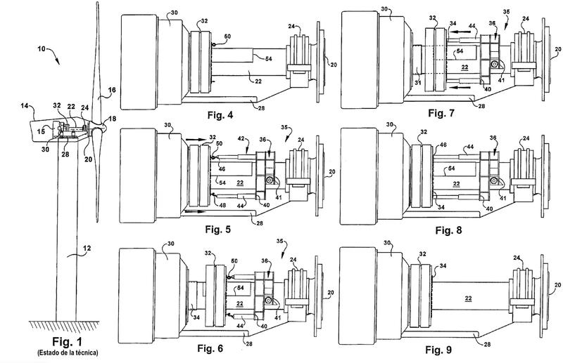 Procedimiento y sistema para desacoplar un acoplamiento retráctil en un aerogenerador.