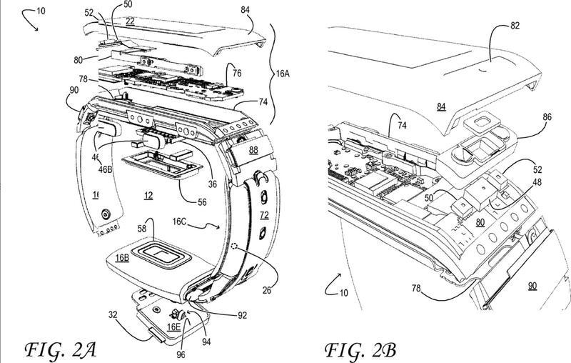 Compartimentos de batería para un dispositivo electrónico portátil.