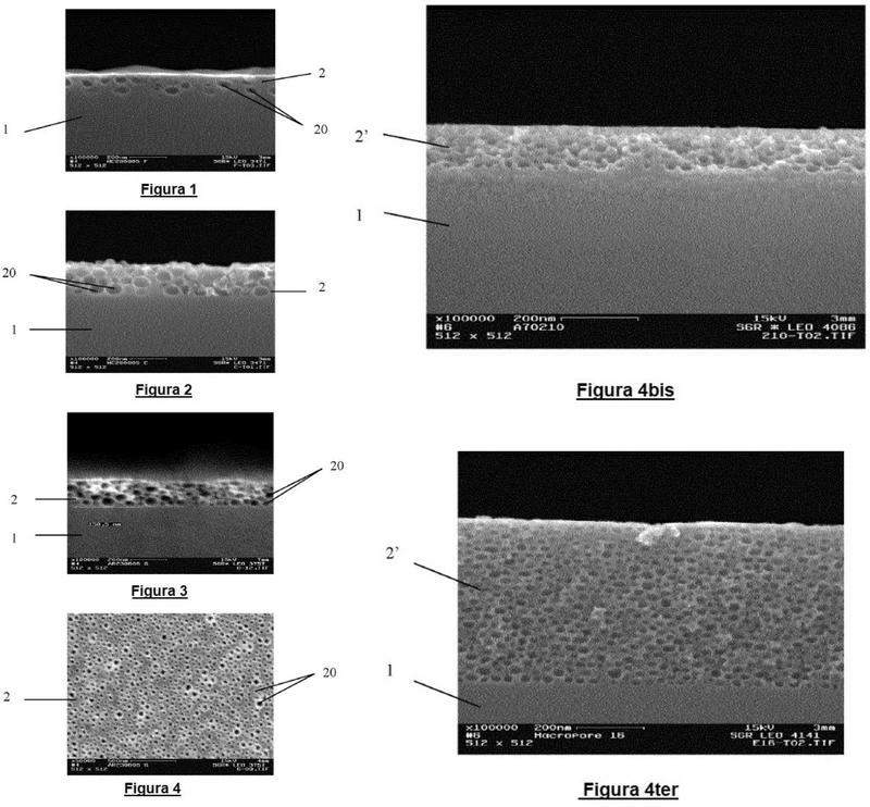 Sustrato revestido, de una capa porosa y módulo solar que comprende este sustrato.