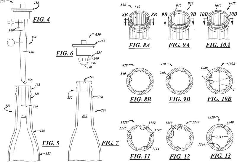 Botella con cuello aireado y procedimiento asociado para producir la misma.