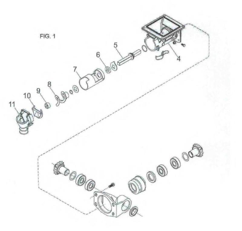 Mecanismo de dosificación de ajuste inteligente con dispositivos adaptables al dispensador de partículas sólidas.