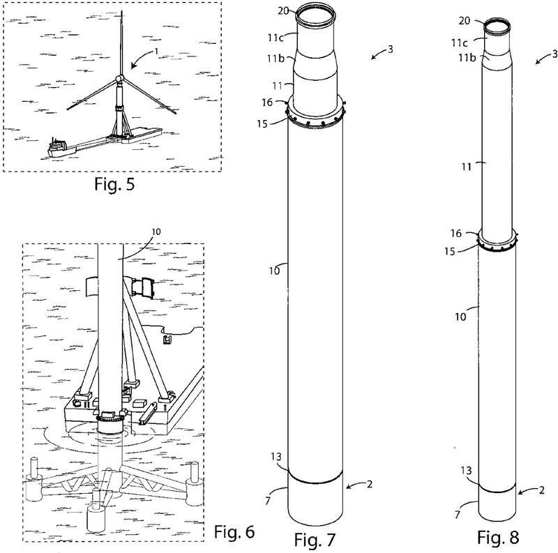 Torre de soporte, particularmente para una turbina eólica.