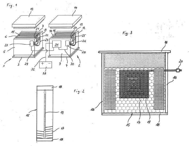 Dispositivo para combatir el ácaro Varroa en un criadero de abejas.