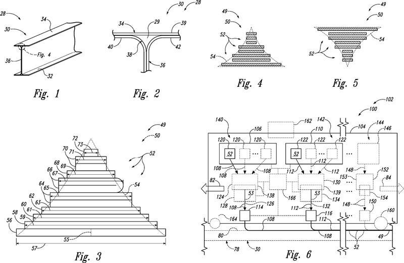 Aparatos y métodos para crear estructuras de material compuesto de cinta en capas.