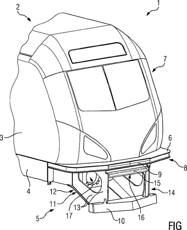 Protección antiencaballamiento central para vehículos sobre carriles con funciones adicionales.