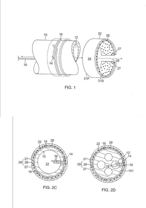 Método para hacer una conexión eléctrica baja óhmica de contacto-presión entre un electrodo de anillo dividido y cable de plomo.