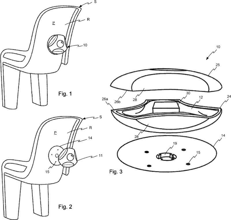 Protección inflable para una silla infantil.