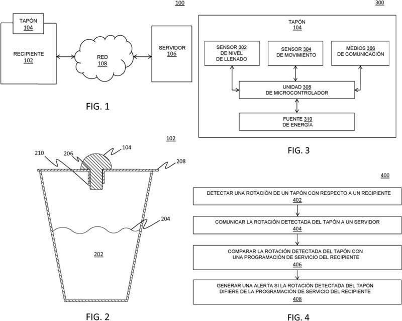 Tapón, sistema y método para detectar una manipulación indebida de un recipiente.