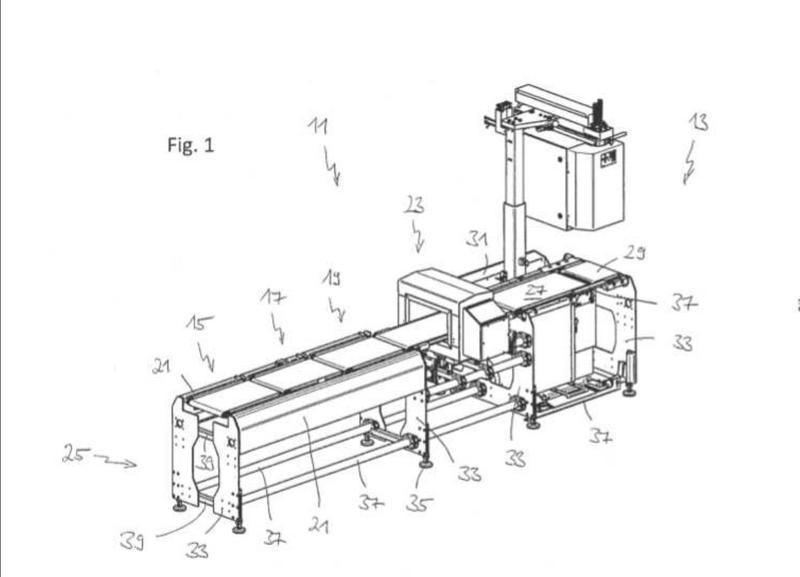 Armazón de un dispositivo de transporte y pesaje.