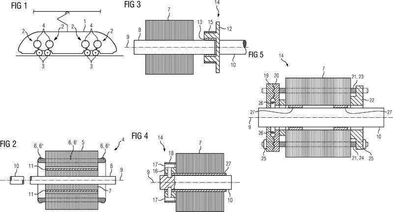 Máquina sincrónica de régimen permanente, con desacoplamiento de rotor automático en el cortocircuito de enrollamiento.