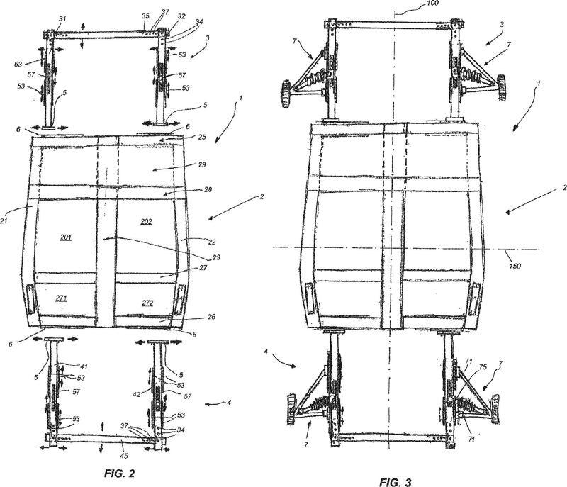 Chasis ajustable para un vehículo motorizado.
