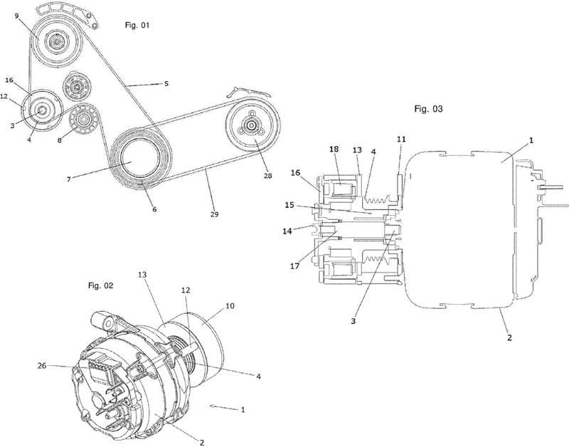 Sistema y método para acoplamiento electromecánico selectivo y/o desacoplamiento de un alternador automotriz.