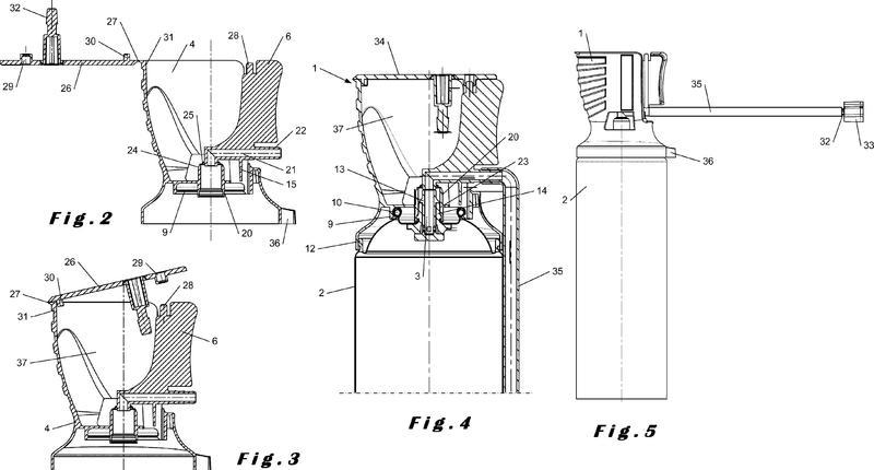Aplicador manual adecuado para recipientes de válvula de pistola.