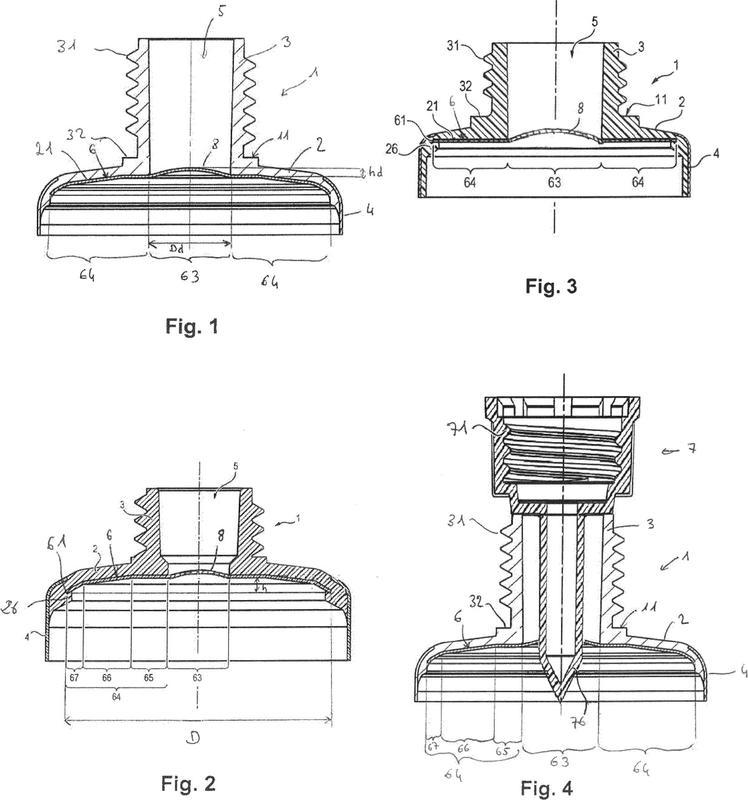 Cabeza de tubo que comprende un inserto que forma barrera.