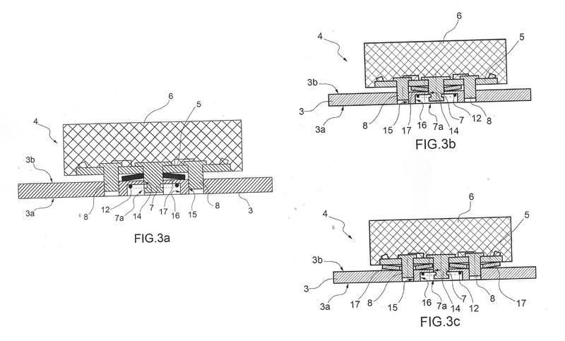 Pastilla de frenos de disco para vehículos ferroviarios.