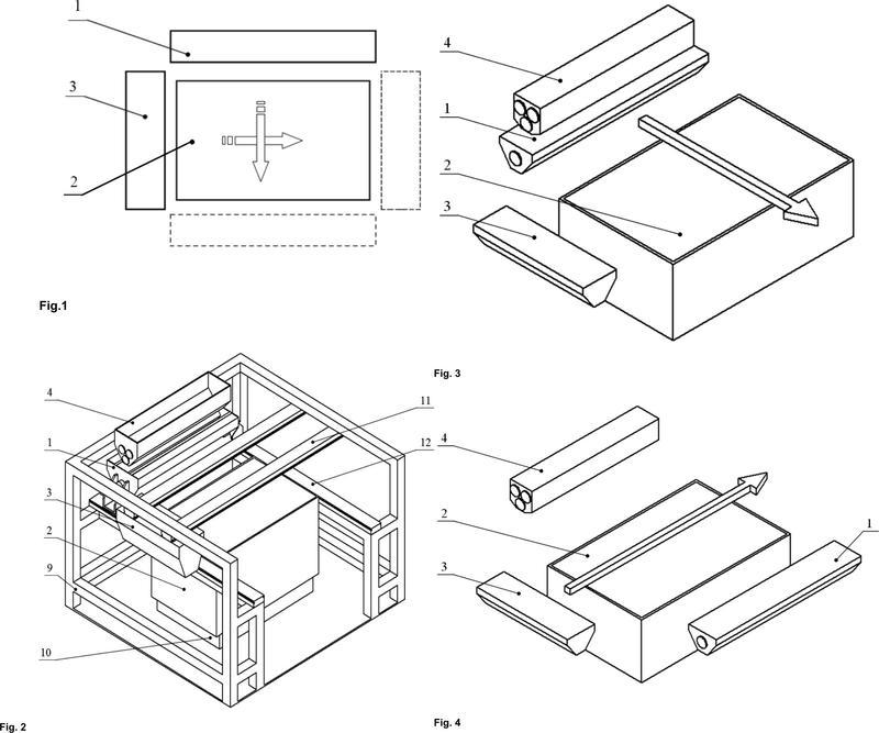 Método y sistema para fabricar modelos tridimensionales de material pulverulento mediante la adición de capas.