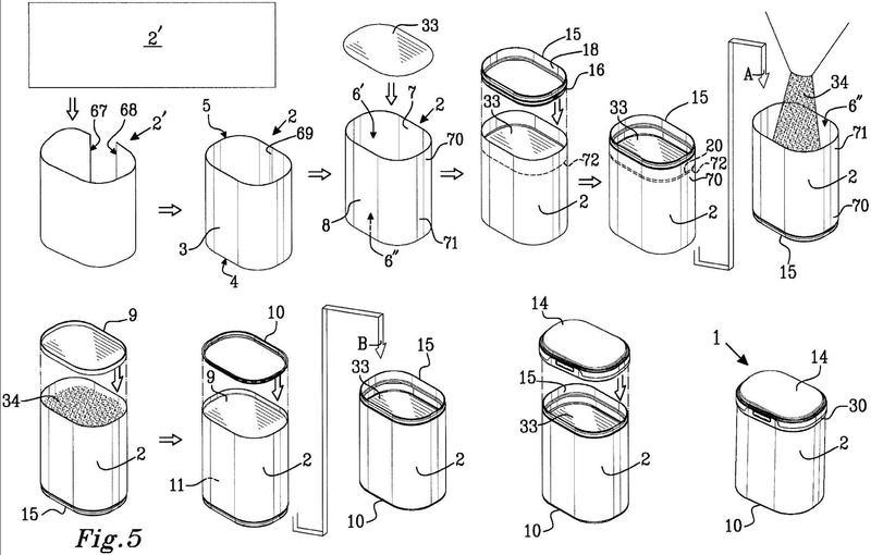 Método para producir y llenar un recipiente de envase.