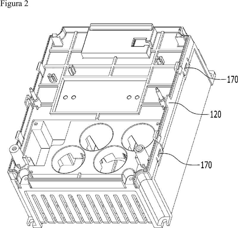 Estructura del conjunto para una unidad de accionamiento de motor.