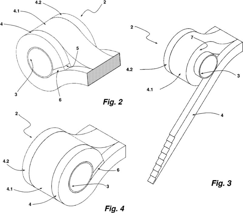 Componente compuesto de fibra.