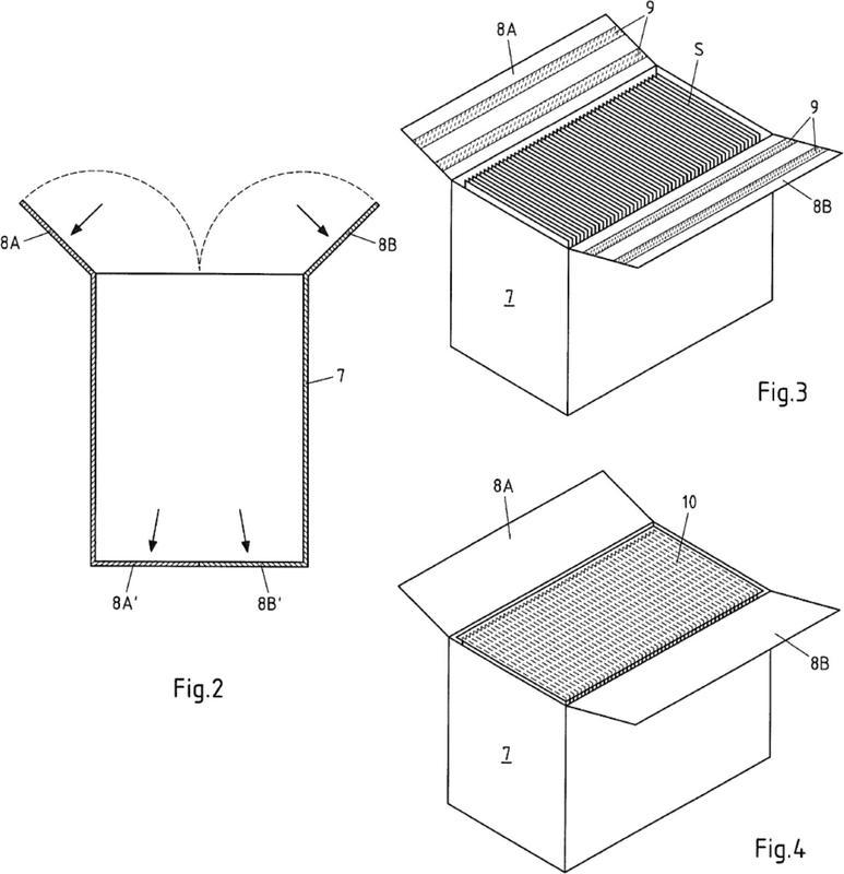 Material de embalaje, un embalaje compuesto producido a partir de ello y un recipiente para el alojamiento de material de embalaje.