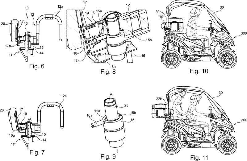 Dispositivo portamaletas para motocicletas.