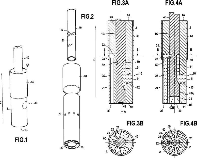 Dispositivo de distribución de producto líquido o pastoso.