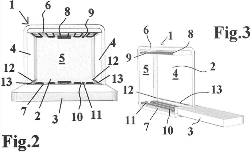 Estructura de horno eléctrico doméstico, en particular para pizzas.