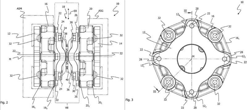 Dispositivo de acoplamiento y dispositivo de articulación reforzado mediante filamentos.