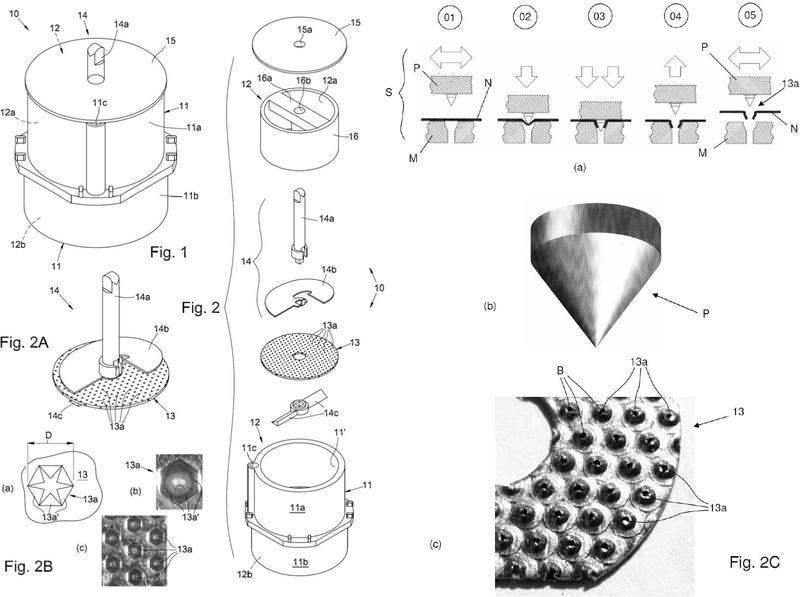 Ilustración 4 de la Galería de ilustraciones de Dispositivo de disgregación de material biológico y método de fabricación correspondiente y método para la preparación de suspensiones celulares y microinjertos de tejido
