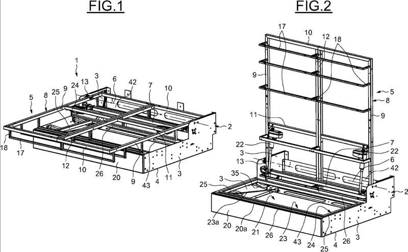 Ilustración 4 de la Galería de ilustraciones de Estructura de cama abatible con soporte de asiento escamoteable