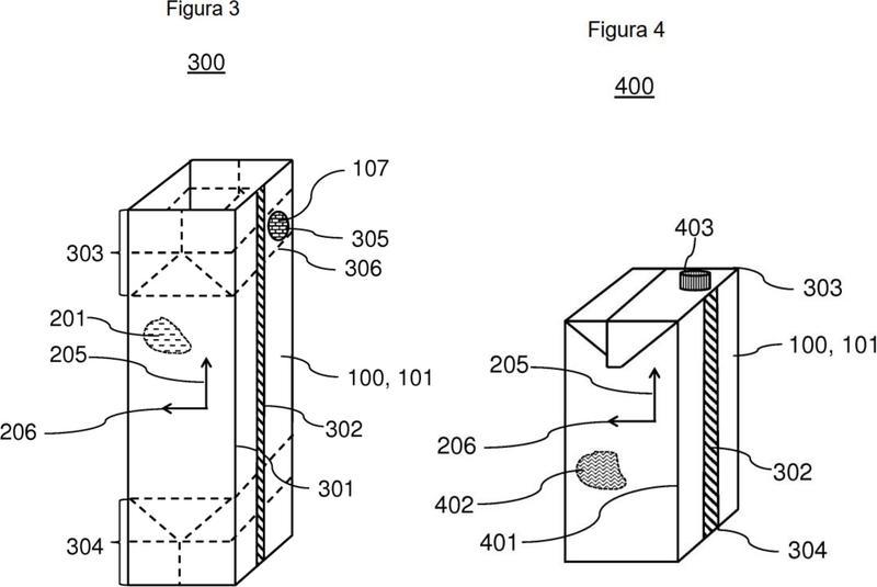 Material compuesto laminar, en particular para la producción de recipientes para alimentos dimensionalmente estables, que tienen una primera resistencia a la flexión que es menor que una resistencia a la flexión adicional.